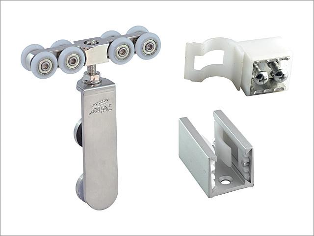 Bathroom glass door roller