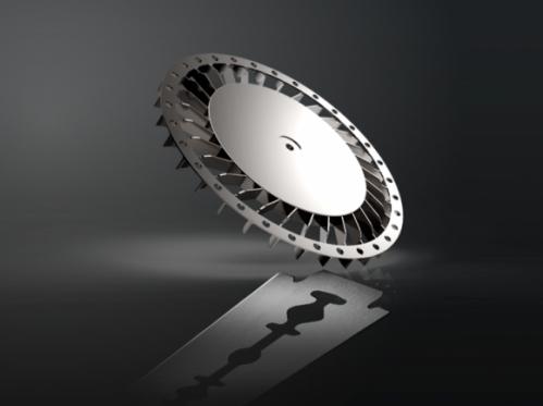laptop metal fan utilizing Metal Injection Molding (MIM) process